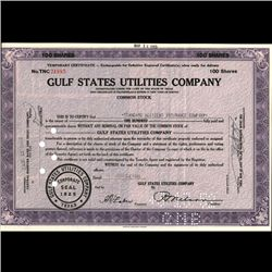 1940s Gulf States Utilities Stock Certificate (COI-3327)