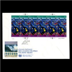 1992 UN NY 29c Scarce Full Sheet 1st Day Cover (STM-2068)