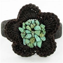 Crocheted Shell Ring (JEW-4312)