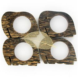 Sugarpalm Wood Napkin Rings (DEC-827)