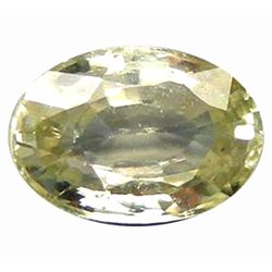 1.30ct Sparkling Oval White Green Natural Zircon (GEM-9859)