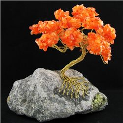 Handcrafted Flourite Brass Wire Tree (DEC-443)