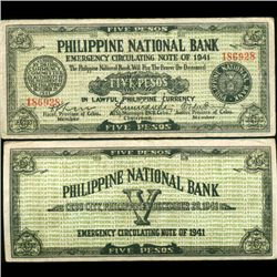1941 WW2 Guerrilla Rebel Philippines 5P Note Cebu (CUR-07257)
