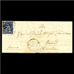 1864 Switzerland 10c Stamp Cover SCARCE (STM-1967)