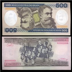 1981 Brazil 500 Crusados Crisp Uncirculated Note (CUR-05573)