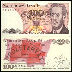 1986 Poland 100 Zlotych Crisp Unc Note (CUR-06150)