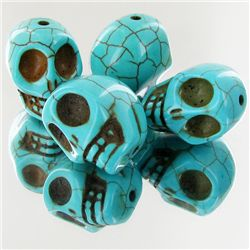 106.3ct Howlite Skull Beads (GEM-46969)