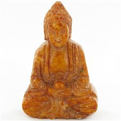 300ct Handcarved Honey Jade Buddha Pendant (CLB-1070)