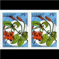 1993 Congo Stamp Set 75f-250f Pairs MINT NH (STM-1274)