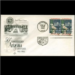 1962 US First Day Pair Postal Cover (STM-2412)