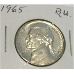 1965 JEFFERSON NICKEL *RARE BU HIGH GRADE - NICE COIN*!!