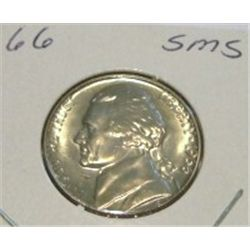 1966 JEFFERSON NICKEL *RARE BU HIGH GRADE - NICE COIN*!!