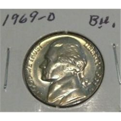 1969-D JEFFERSON NICKEL *RARE BU HIGH GRADE - NICE COIN*!!