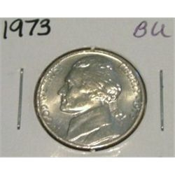 1973 JEFFERSON NICKEL *RARE BU HIGH GRADE - NICE COIN*!!