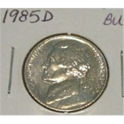 1985-D JEFFERSON NICKEL *RARE BU HIGH GRADE - NICE COIN*!!