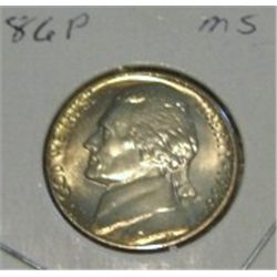 1986-P JEFFERSON NICKEL *RARE MS HIGH GRADE - NICE COIN*!!