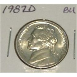 1987-D JEFFERSON NICKEL *RARE BU HIGH GRADE - NICE COIN*!!