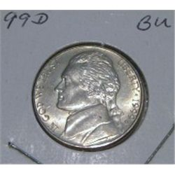 1999-D JEFFERSON NICKEL *RARE BU HIGH GRADE - NICE COIN*!!