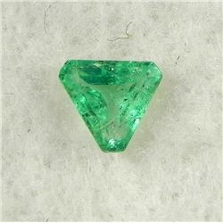 .57 Carat Ice Green Trillion Cut Emerald