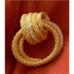 Vintage Signed Christian Dior Love Knot Brooch MWF1795