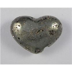1540 Ct Hand-Carved Pyrite Heart Fools Gold