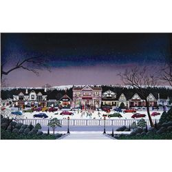Folk Art Nicky Watanabe CHRISTMAS IN CAMBRIA Art Print