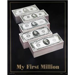 My First Million U.S. Currency Money Poster