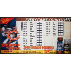 Bears Football 2005 Chicago Schedule 6 Ft Vinyl Banner