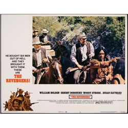 The Revengers Original Lobby Card Western Movie Poster