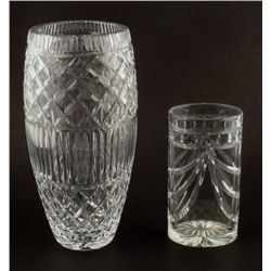 2 Elegant Glass Vases, Small & Large 13""