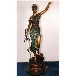 "Blind Justice Bronze 51""Tall"