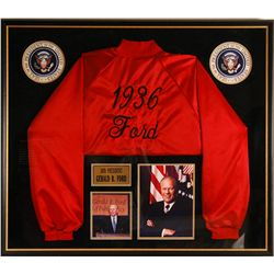 Framed Red Jacket Autographed by President Ford