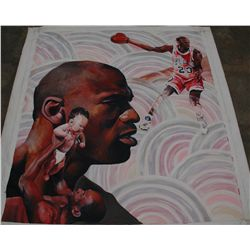 Michael Jordan Signed original Painting