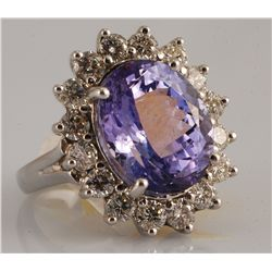 Tanzanite (10.67 ct) & Diamond (1.92 ct) Ring