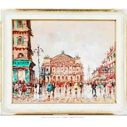 "Antonio Devity ""Paris"" Signed Oil on Canvas"