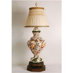 "34"" Tall Vintage European porcelain lamp"