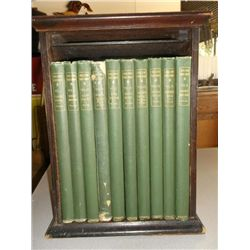 1912 Ideal Home Music Library In Wooden Case all piano music leather bond, Vol. 1-10 -#1 Classic Wor