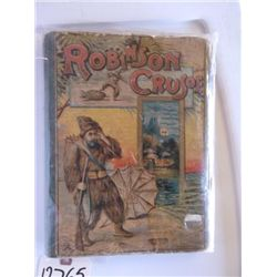 Antique Book Robinson Crusoe by Daniel Defoe The Life & Adventure of Robinson Crusoe has two hundred