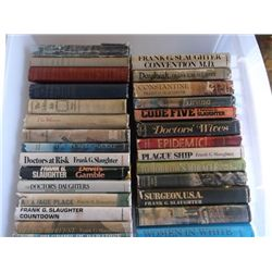 """28 Books by Frank G. Slaughter 1950""""S up Daybreak, Code Five, Doctors Wives, Sword & Scalpel, The Go"""