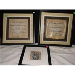"3 Decorative Frames 2-12"" x 12"", 1-8.5"" x 8.5"""