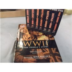 World War 11 Book & WW11  VHS Tapes The Peoples Story by Mike Wallace and the VHS Tapes are Frank Ca