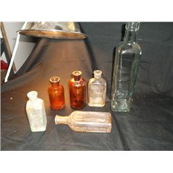 6 Antique Bottles (5-medicine)