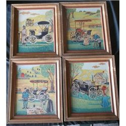 4 Vintage Oil on Board Paintings Signed by Artist Mari 4 Vintage Paintings oil on Board of Vintage C