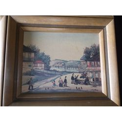 6 Oil on Board signed Vintage Paintings Oil on Board signed Jean Fous