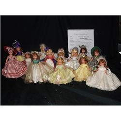 13 Vintage Bisque Nancy Ann Story Book Dolls Dolls of the month & Seasons Series, some have the orig