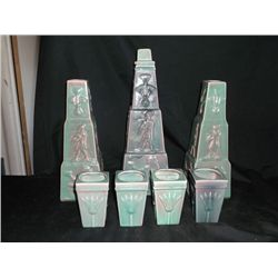 Egyptian Style Decanter Set Egyptian Decanter with Cups and Candle Holders