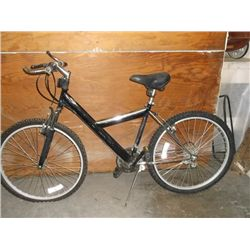 "Black & chrome 26"" 18 speed men's MT. Bike"