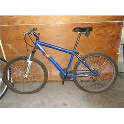"Blue w/ White forks 26"" 15 speed MT. bike"
