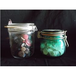 3 Fruit Jars of Buttons