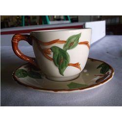 4 Cup & Saucers Franciscan Franciscan Desert Rose Pattern Cups & Saucers